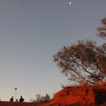 Filming in the Australian outback