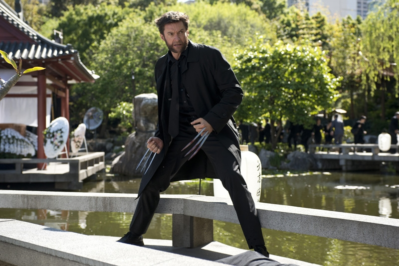 Hugh Jackman doubles Australia for Japan filming on location