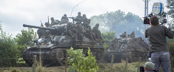 Brad Pitt films England as Germany for World War 2 tank