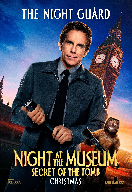 at the movie Night museum