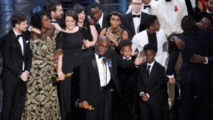 Moonlight beats La La Land for Best Picture at the 2017 Academy Awards