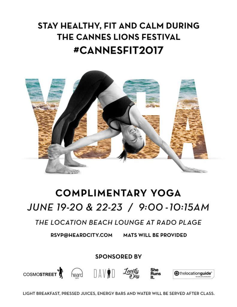 TLG, Cannes, Lions, Beach, Lounge, Event, Croisette, France, Festival, Creativity, Advertising, Commercials, Production, Film, Filming, News, Industry, Yoga
