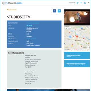 Showreel online listing