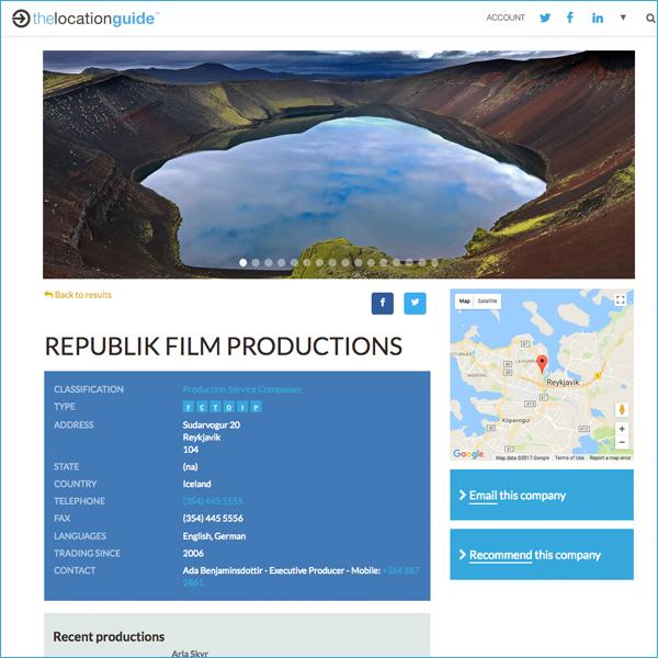 Slideshow online listing