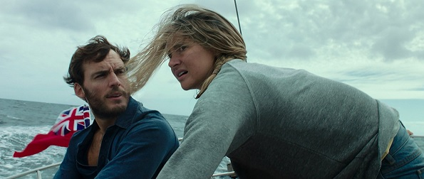 Adrift Woodley and Claflin on boat STX Films 595(1)