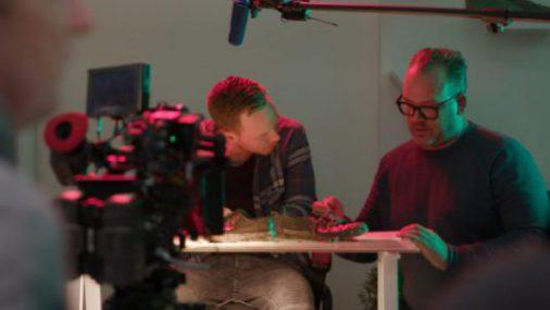Seth and Zach on set