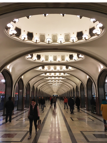 An incredible metro station in Moscow. We shot here for Luc Besson's Anna due to be released next year.