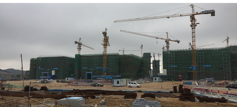Construction underway in China.