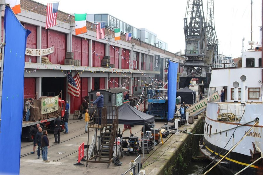Stan & Ollie films on Princes Wharf (credit Bristol Film Office)