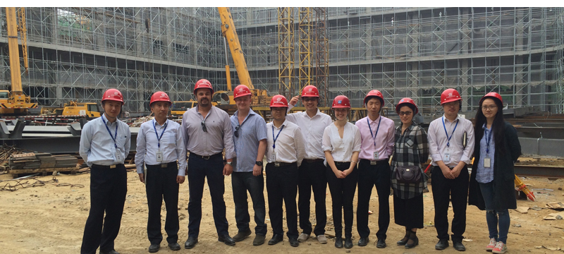 With the Wanda team on the site of the 100,000sqft stage