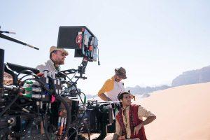 Filming on location in Jordan for Disney's Aladdin