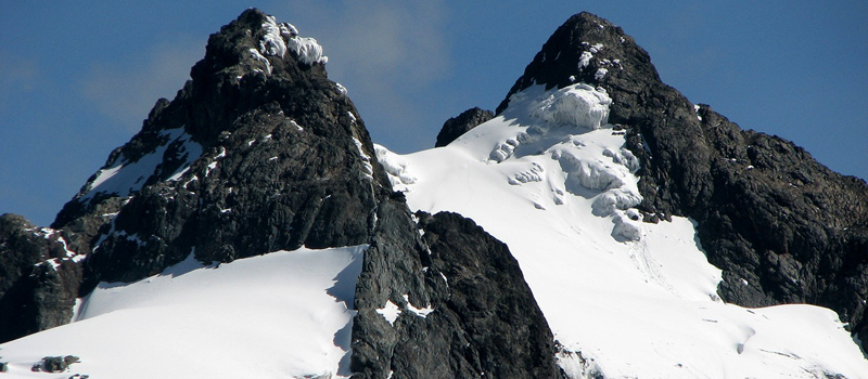 Snow capped Rwenzori Mountains