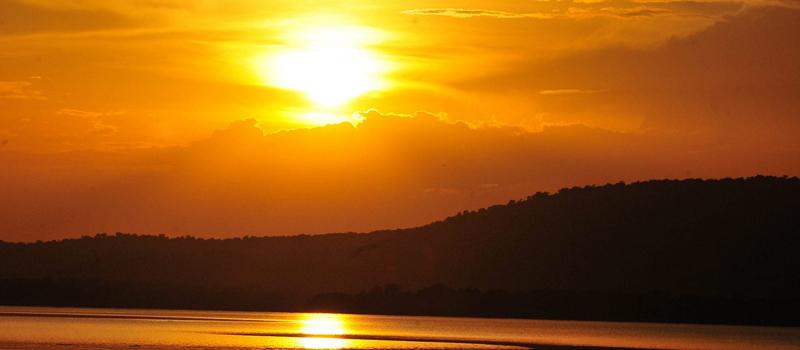 Sunset over Lake Mburo National Park