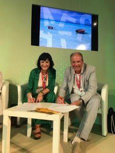 Simonetta Delomonico Apulia Film Commission and Adrian Wootton Film London.